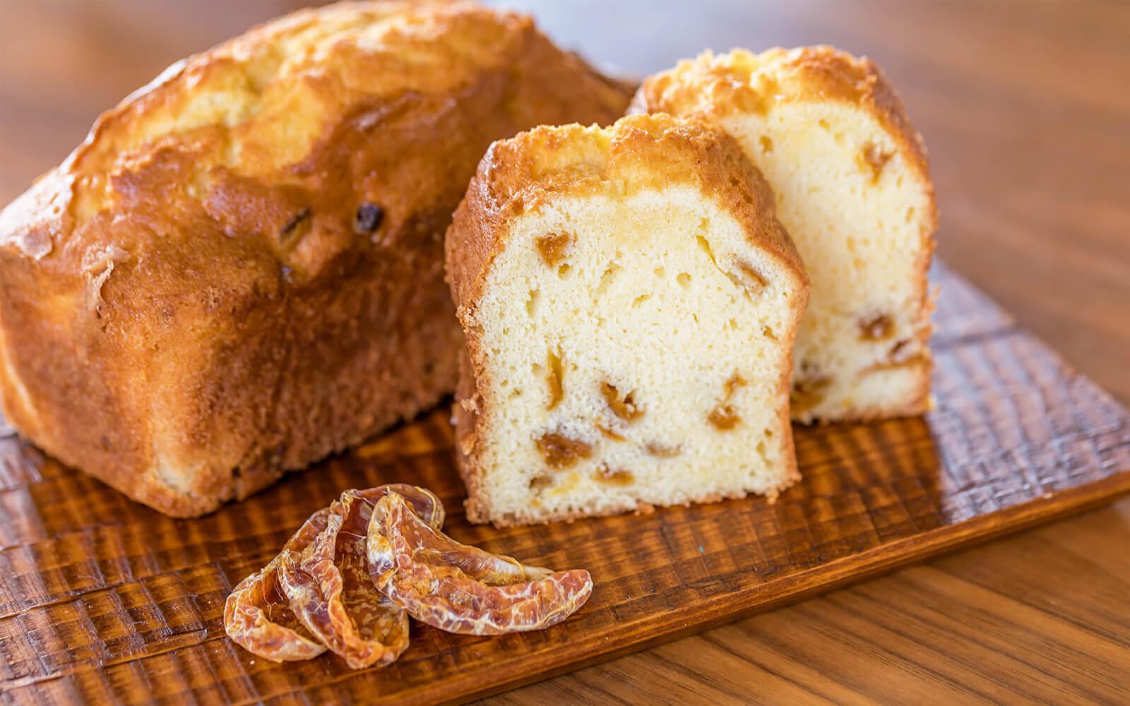 シラヌイドライフルーツを使ったパウンドケーキ メイン