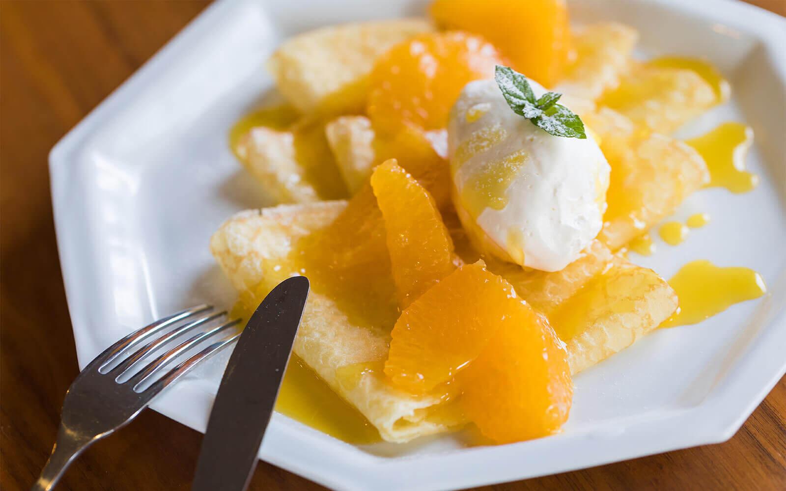 【気軽にアレンジレシピ】 大将季のソースを使ったクレープシュゼット イメージ2