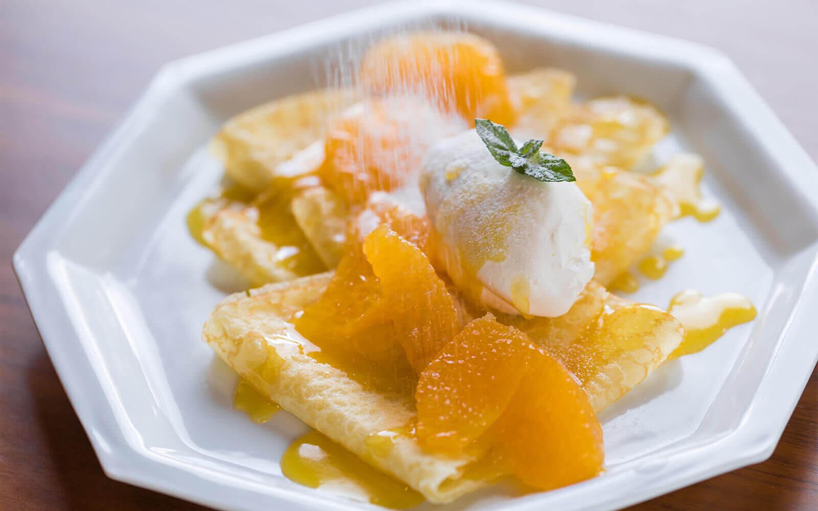 【気軽にアレンジレシピ】 大将季のソースを使ったクレープシュゼット イメージ3