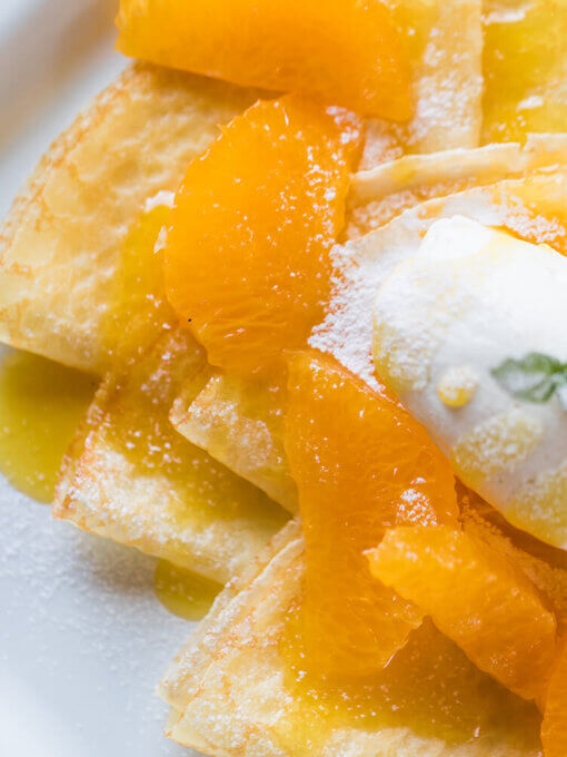 【気軽にアレンジレシピ】 大将季のソースを使ったクレープシュゼット イメージ